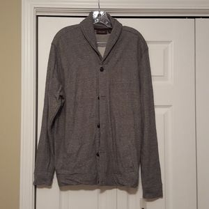 Tasso Elba gray knit jacket, size large, NWOT